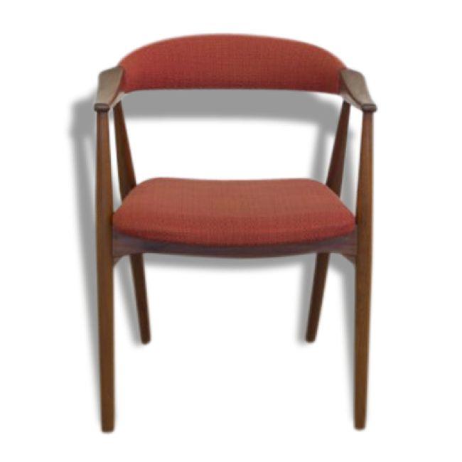 chaises danoises en teck avec accoudoirs de Farstrup