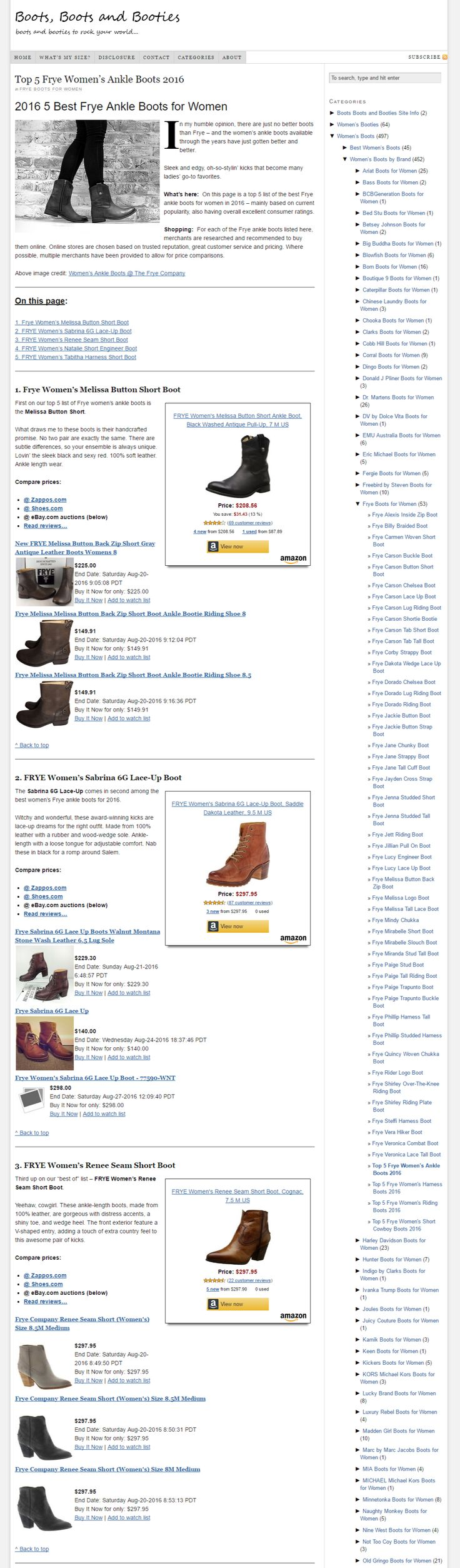 2016 Best Frye Ankle Boots for Women - Top 5 List @ Boots, Boots and Booties