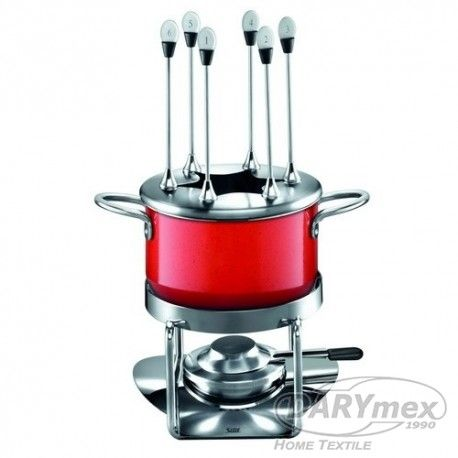 fondue energy red Includes the base of the burner and numbered forks, more on darymex.com