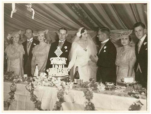Scene from a 1930's wedding reception New South Wales, Australia