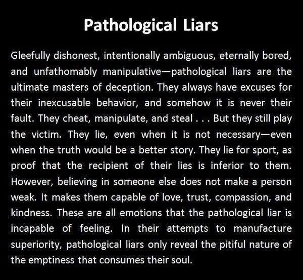 pathological liar that prey on weak - Google Search