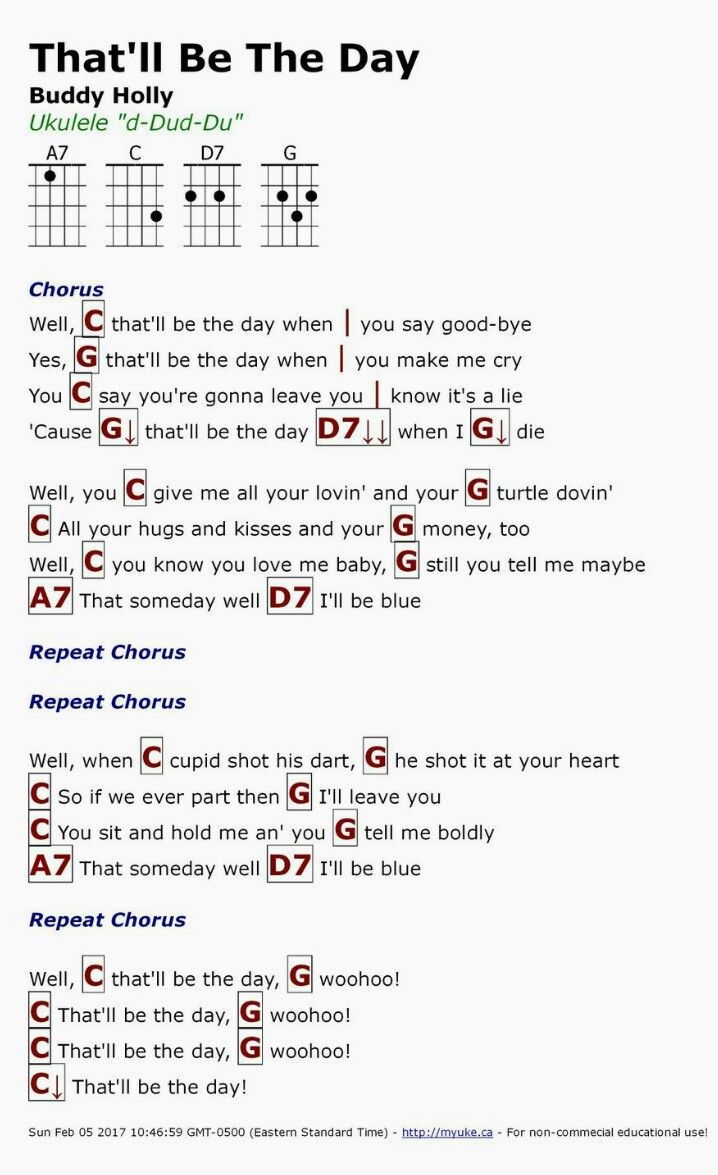 626 best guitar song with chords images on pinterest guitar that will be the day buddy hexwebz Image collections