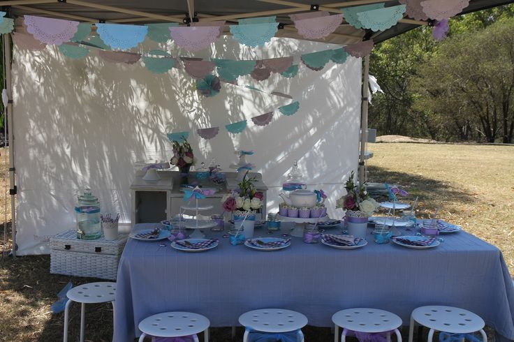 Purple Blue Kids High Tea Party