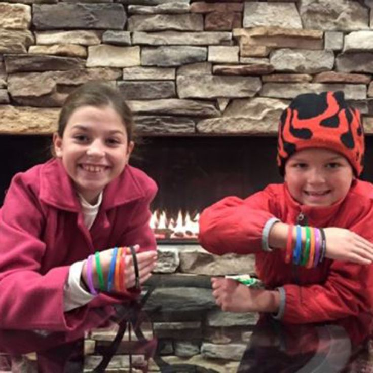 Treetops Resort Winter Scavenger Hunt takes the kids on a property-wide search for emoji signs where they can collect bracelets!