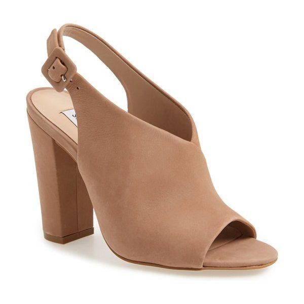 292a1303f0 Riley slingback sandal by Steve Madden  stevemadden  nudeshoes Nude Heeled  Sandals