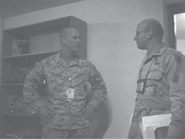 Captain M My Boss Left And Major X Security Right Six