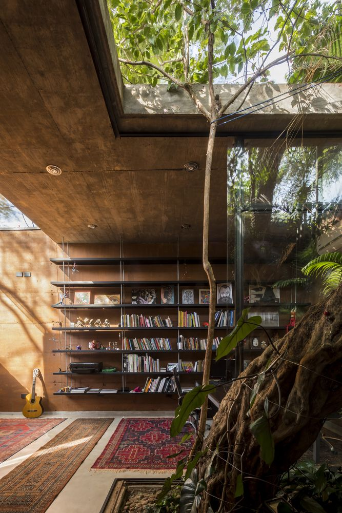 Gallery of Home Library Architecture: 63 Smart & Creative Bookcase Designs – 52