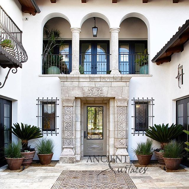 17 best images about entryways from ancient french stones for Spanish villa interior design