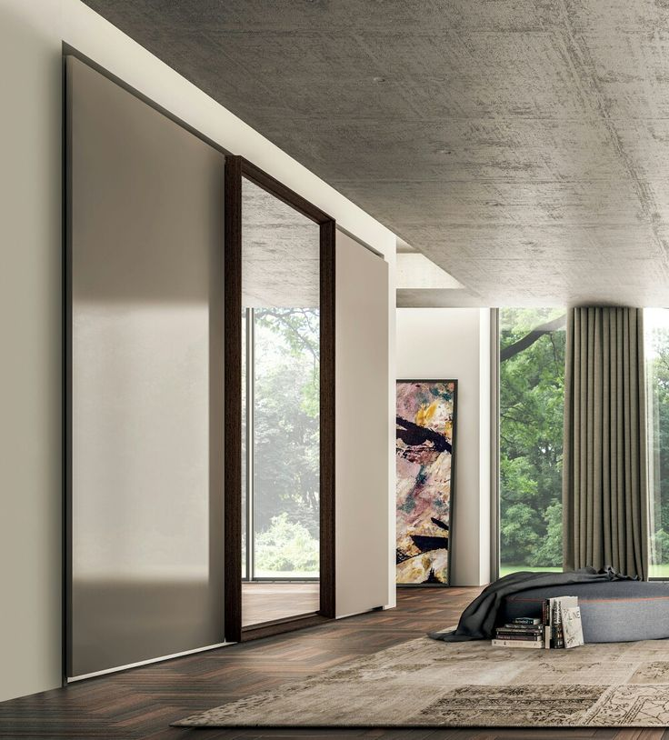 Programma L'armadio, is Fimes multifunctional system for daily needs, with different door's opening as leaf, folding and sliding, with different sizes and customised units available with many finishes: matt or glossy lacquered, essences, ash wood open pore, our samples, Canaletto walnut, wengè, natural walnut, mirror and glass colour. #wardrobe #fimes #closet #slidingdoor #furniture #madeinitaly #interior #interiordesign #quality #bedroom