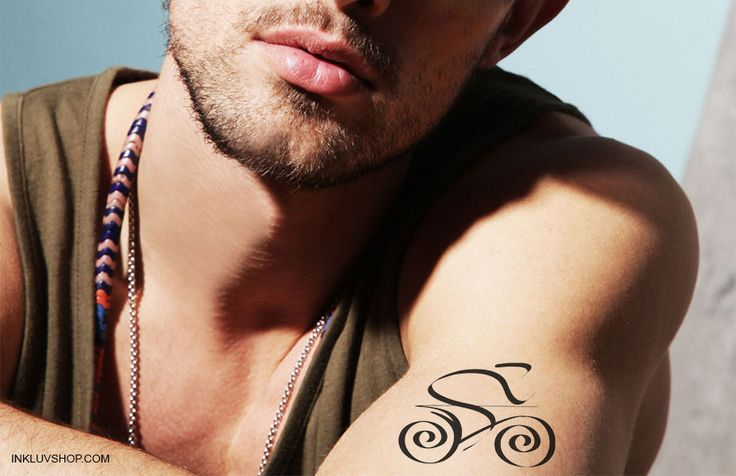 If you are keen to show your #tough #exterior, an #arm #tattoo is the best bet.  Grab this #Biker #Temptat on your #skin for just Rs. 150 at http://goo.gl/3vTMKp  Check out http://inkluvshop.com for more #Sports Temporary #Tattoos.  #fortheloveofit - @Inkluv
