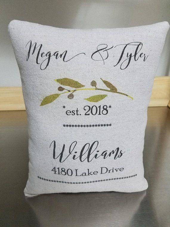 Custom Anniversary Gift Pillow Name Pillows Wedding Date Throw Pillow Newlywed Gifts Personaliz Custom Anniversary Gift Cotton Anniversary Personalized Pillows