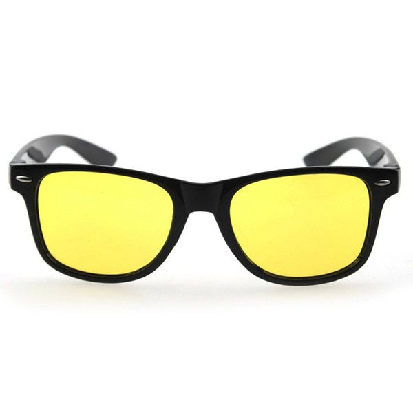 Men Yellow Lens Night Vision Driving Glasses Polarized Sunglasses Riding Goggles