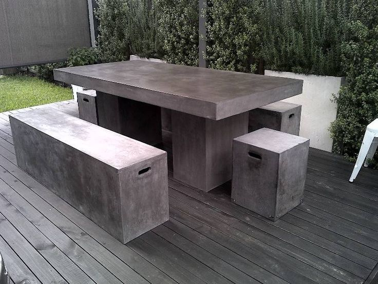 25 best ideas about Concrete outdoor table on Pinterest
