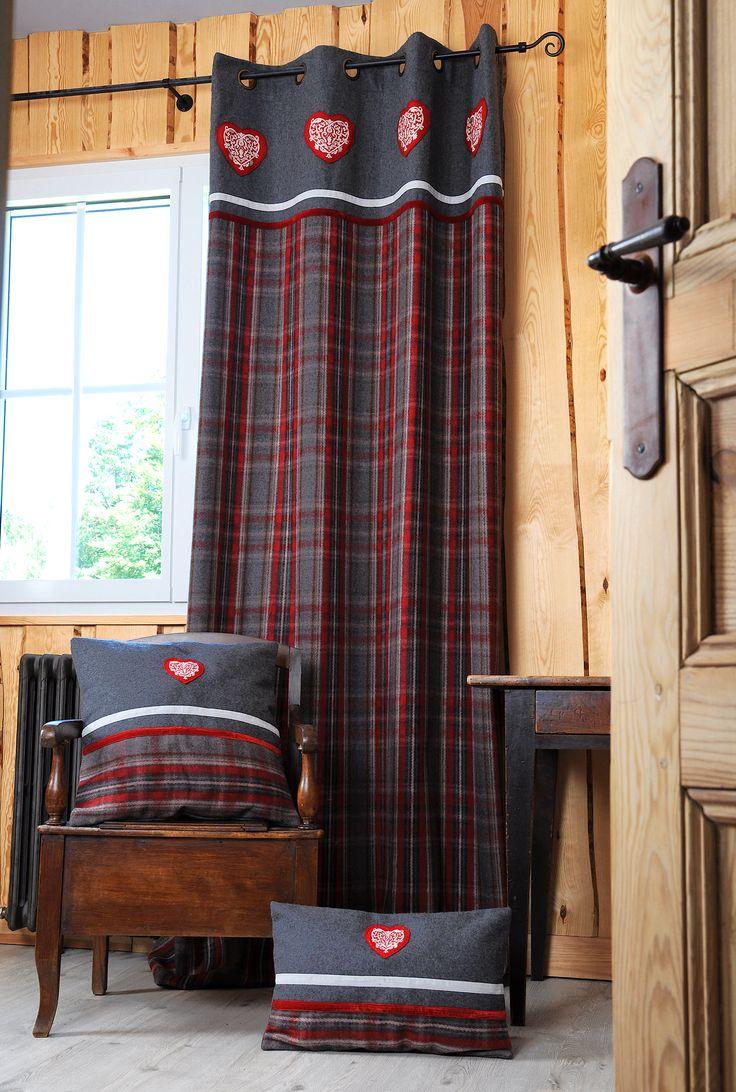 les 25 meilleures id es de la cat gorie rideaux montagne sur pinterest chalet de montagne. Black Bedroom Furniture Sets. Home Design Ideas