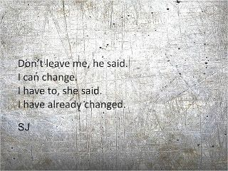 I think two people change and that's what causes divorce. You no longer see eye to eye. No matter how much one person can try. It takes two.