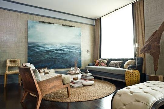 art: Living Rooms Wall, Wall Art, Colors Theme, Living Rooms Art, Colors Schemes, Ocean Art, Cities Living, Big Art, Alex O'Loughlin