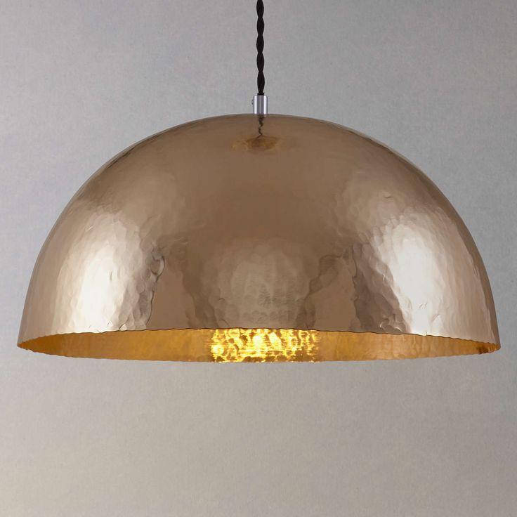 BuyJohn Lewis Nala Hammered Pendant Ceiling Light, Brass Online at johnlewis.com
