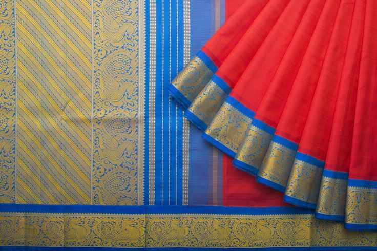 Kanakavalli Handwoven Kanjvaram Silk Sari 1016149 - Parisera