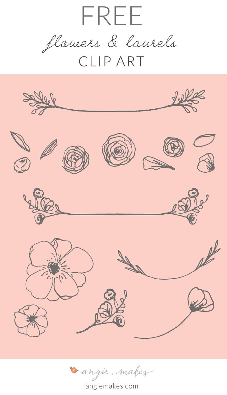 Free Laurel Clip Art | angiemakes.com #handdrawn #laurels #bloggraphics