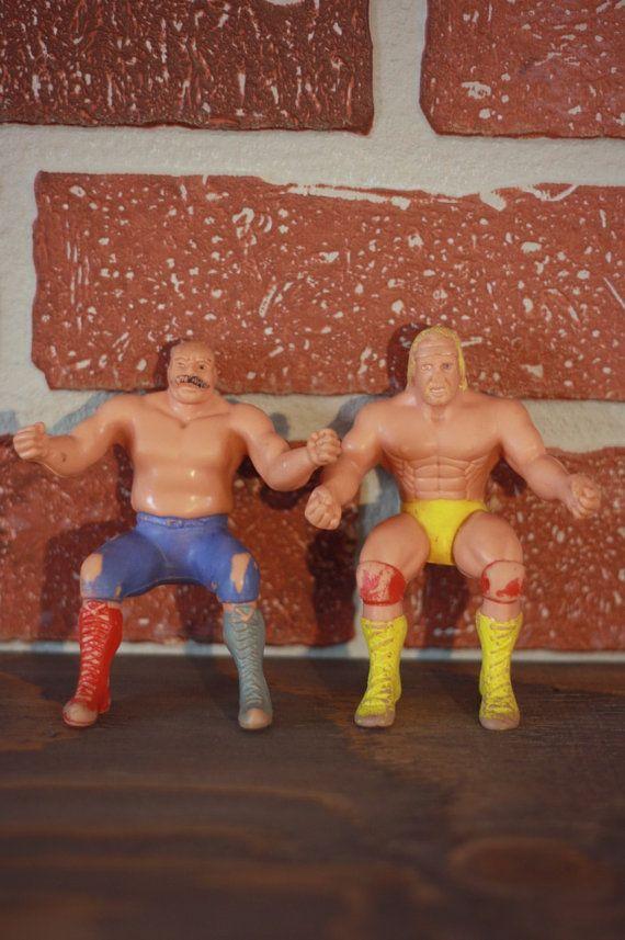 Lutteur figurine 1985 ensemble de 2 WWE figurine par PastelEtPixel