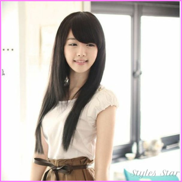 Best Cute Haircuts Images On Pinterest Hair Cut Hair Dos And - Hairstyle for round face asian girl