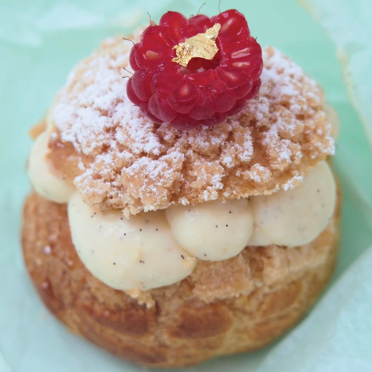 "Inspired by Gateau Thoumieux in Rue Saint Dominique in Paris, you can make this vanilla choux crumble puff from ""Teatime in Paris"", the new recipe book by Jill Colonna."
