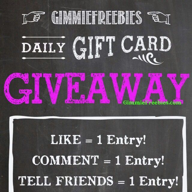Gift Card Giveaway, Amazon Gift Cards, Daily Gift