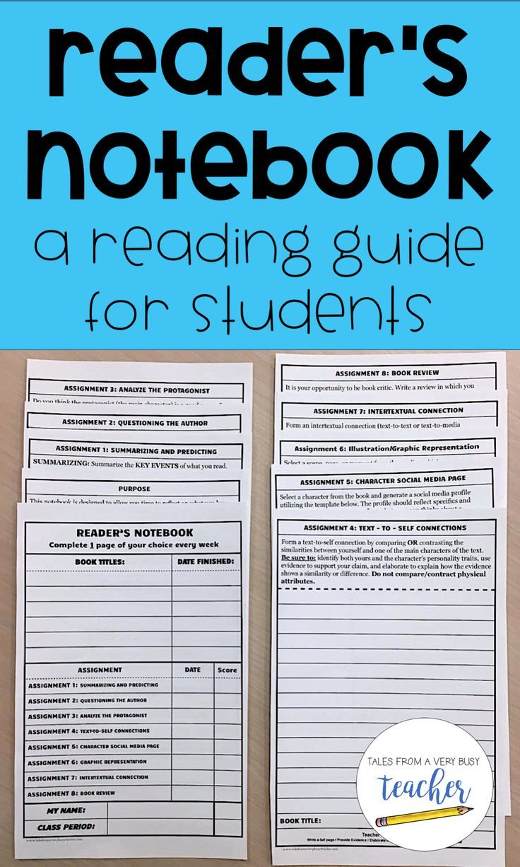 This Reader's Notebook can be used as a class project or as a take home assignment. It's also great for extension activities, or building on students' independent reading skills. I enjoy using it as an Accelerated Reader activity to keep students motivated while reading their AR books.