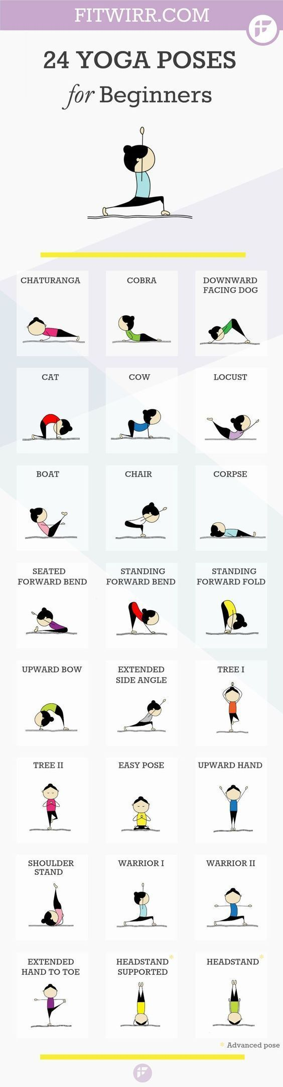 DownDog Healthy Lifestyle Tips: 24 Beginners Yoga Poses You Can Start with at Home. From the Downdog Diary Yoga Blog found exclusively at DownDog Boutique: