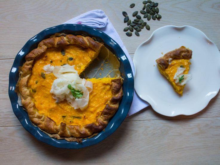 Torta salata zucca e topinambur ricetta