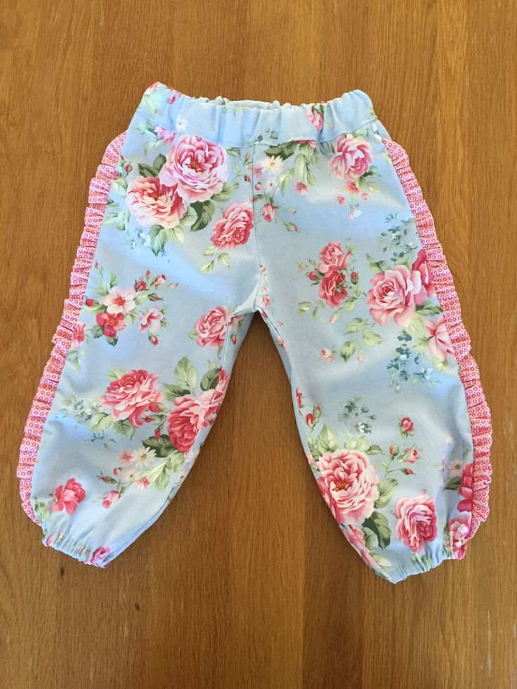Girls Harem Pants Size 1 years by HarryandroseDesigns on Etsy