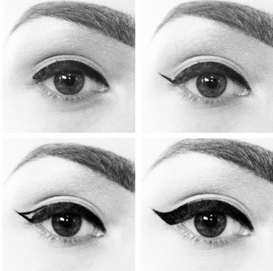 Simple step by step instructions to a perfect cat eye.