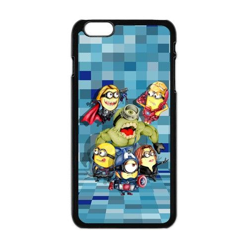The Avengers Despicable Me Minecraft Apple Iphone 6 plus Case.  #accessories #case #cover #hardcase #hardcover #skin #phonecase #iphonecase #iphone6plus #iphone6pluscase #movie #despicableme #dezignercase