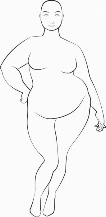 "Plus size fashion illo ""dummy"""