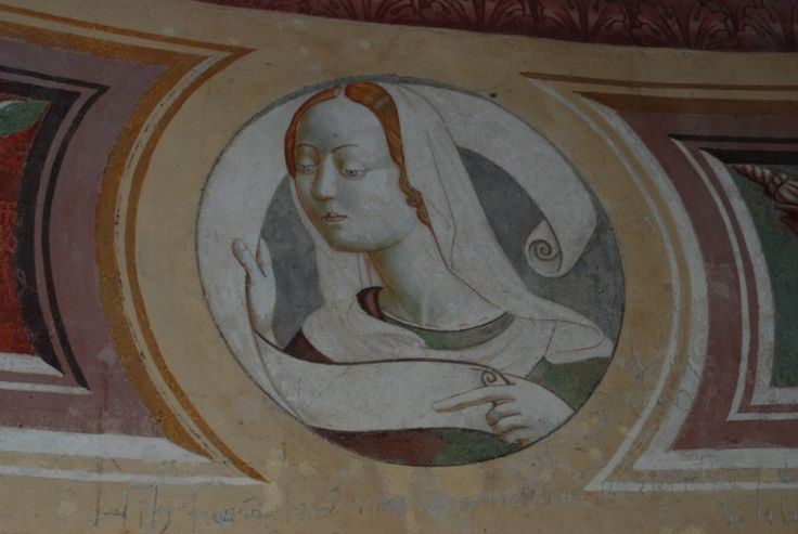 Pierantonio Mezzastris - Sibilla - affresco - 1467 - Chiesa Madonna della Fiamenga, Foligno