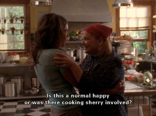 Gilmore Girls -- cooking sherry