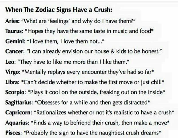 Nope. I'm like Scorpio...although I'm a virgo. And they say that Virgo's and Scorpio's are very compatible. I SHALL DATE MYSELF.