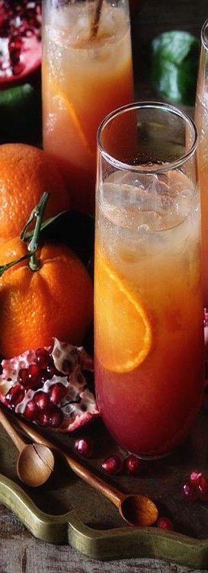 orange-pomegranate-cocktail ♥✤