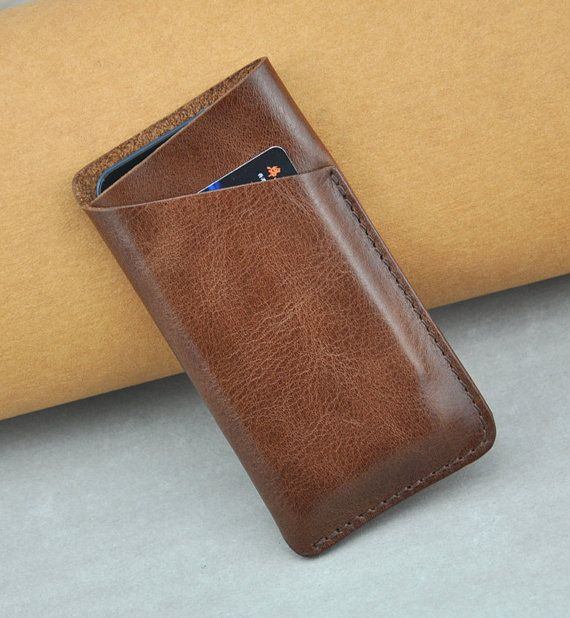 Handmade iPhone 5/5s/5c Leather Case, ipod touch 5 Case, Leather Phone Cover on Etsy, 253:70 kr