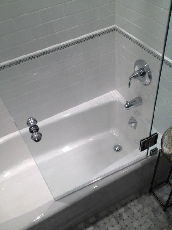 1000 ideas about drop in bathtub on pinterest american - Bathroom glass partition designs ...