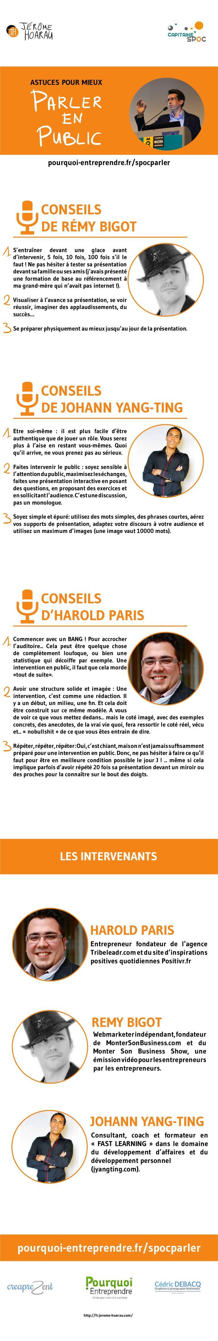 Conseils pour mieux parler en public, communication orale by Jérôme HOARAU via slideshare