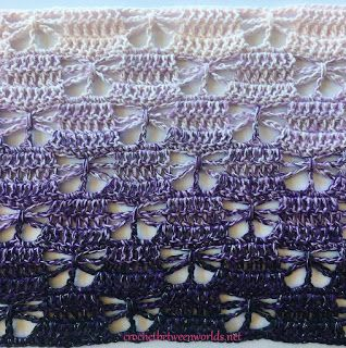 Crochet between worlds: FREE PATTERN: The Last Butterfly Scarf