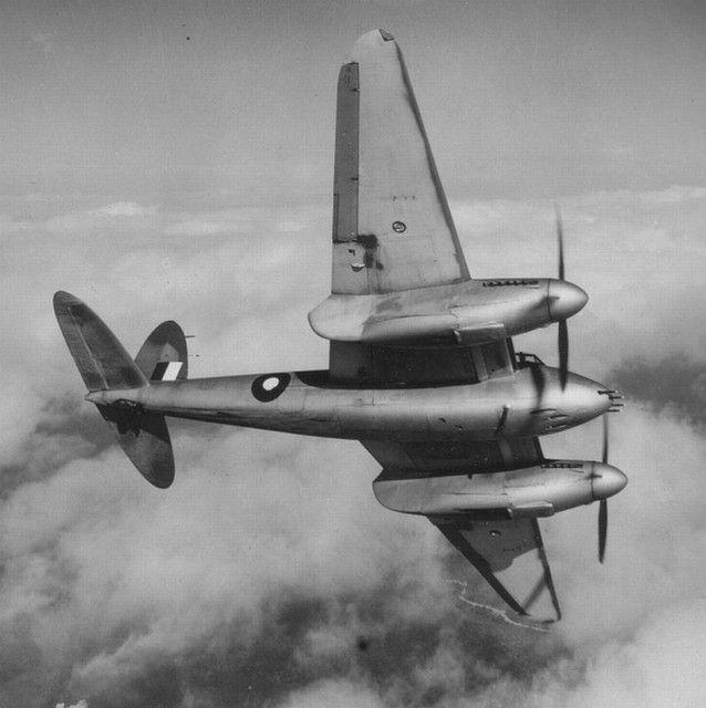 Royal Australian AIr Force DH Mosquito Mk.40 A52-1 during a test flight.1943,