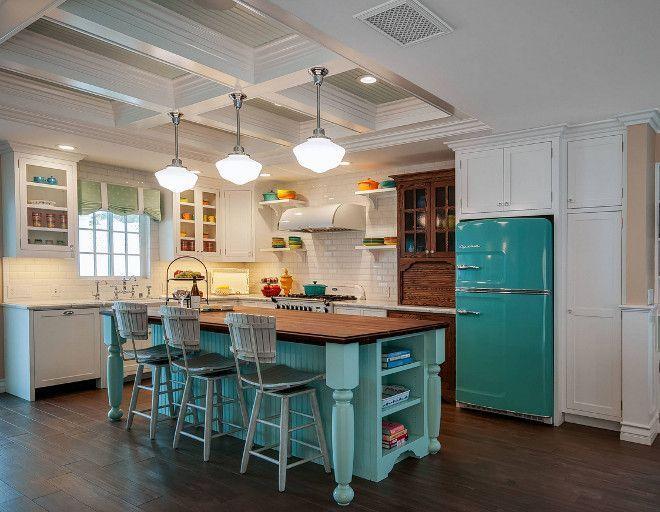 Retro Beach Style Kitchen featuring Fiesta Dinnerware