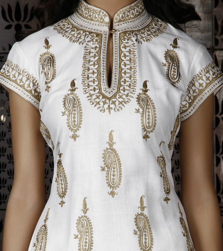 Ivory Light Matka Silk Suit with Tilla Embroidery