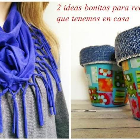 ideas bonitas para reciclar la ropa que tenemos en casa