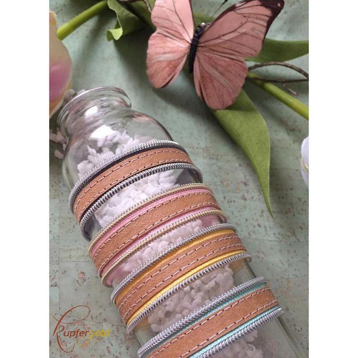 Armband aus Snap Pap und Reißverschluss