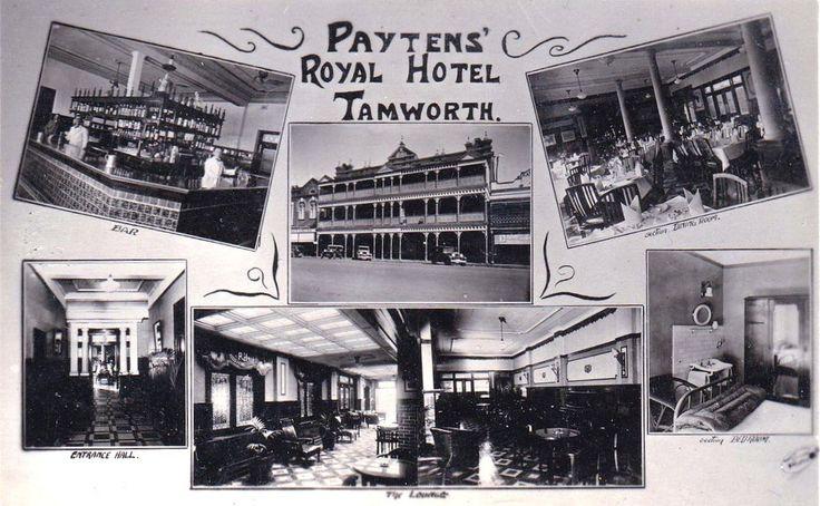 Advertising postcard for Payten's Royal Hotel, Tamworth, NSW, 1940s