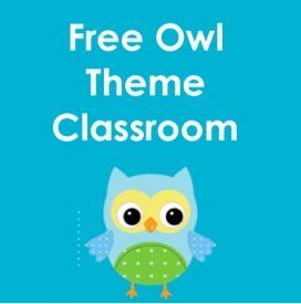 free owl theme classroom