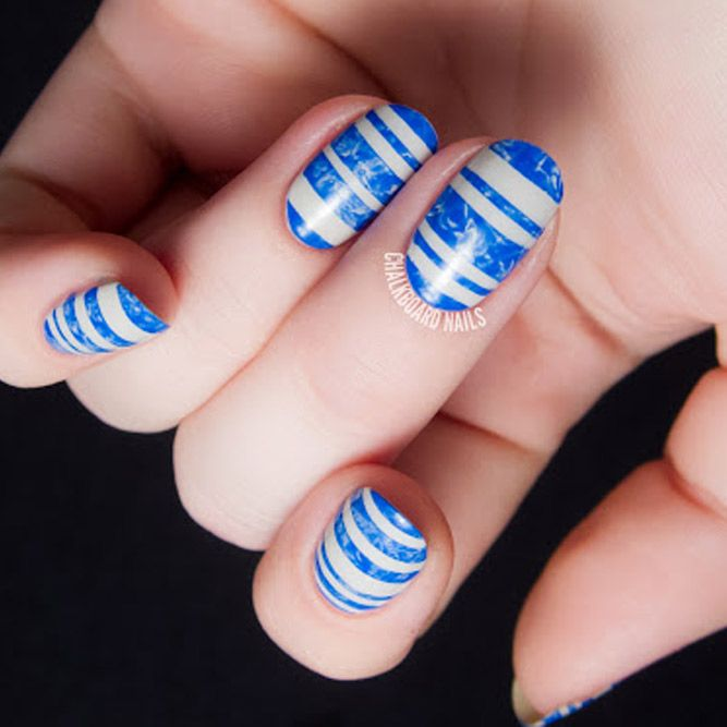 14 best marbling nail art images on pinterest chalkboard nails 24 swimming pool summer nail art ideas that will cheer you up prinsesfo Image collections